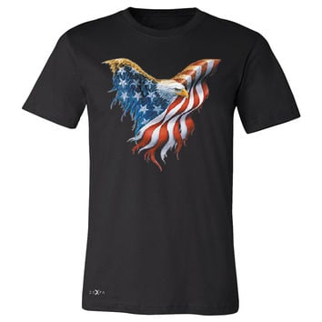 Zexpa Apparel™ American Flag Bald Eagle Men's T-shirt USA Flag 4th of July Tee