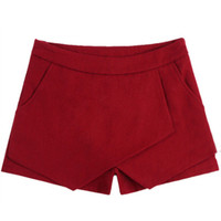 Wine Red Low Waist Shorts