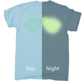 123t USA Kids Glow In The Dark ... Rave Sunglasses Funny T-Shirt Ages 3-13