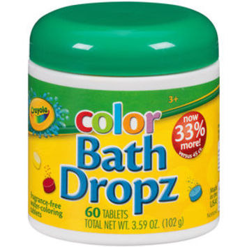 Walmart: Crayola Color Bath Dropz, 60 count, 3.59 oz