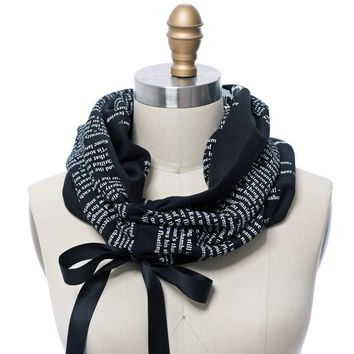 The Raven Ribbon Book Scarf