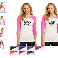 PRE-ORDER Love Wins Adult Women's T-Shirts, Tanks and Baseball T