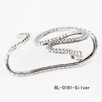 Snake Bracelet Crystal Hand Palm Bangle Cuff Fine Goth Jewelry