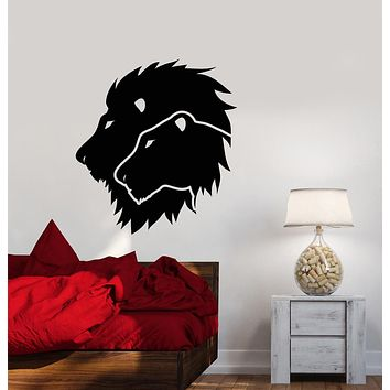 Vinyl Wall Decal Lion And Lioness African Animals Big Cats Stickers (3315ig)