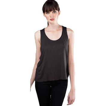 Womens Raw Edge Slub Yoga Tank Top