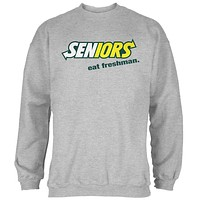 Back To School Seniors Eat Freshman Parody Mens Sweatshirt