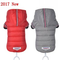 2017 New Windproof Winter Dog Clothes For Small Dogs Hoodies Pet Down Jacket Clothing For Dog Coat Ski Jacket Dog Costume XS-XL