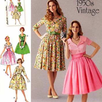 Mad Men Style Retro Dress - Simplicity 1426 - Uncut - 8 to 16