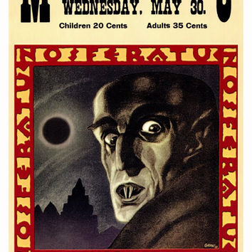 Nosferatu, a Symphony of Horror 27x40 Movie Poster (1922)