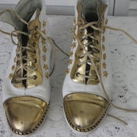 Vintage Distressed Ankle Boots by Enzo of Roma for Harrods Size 6 1/2