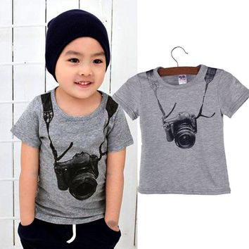 USA Toddler Infant Kids Baby Boy Clothes T-shirt Tops Tank Vest Blouse