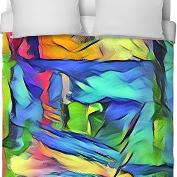 Abstract Coloring Duvet Cover