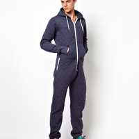 Cinch Onesuit Jersey Quilted at asos.com