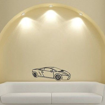 Wall Mural Vinyl Sticker Decal machine sport speed power DA1923