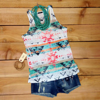 TRIBAL BREEZE TANK TOP