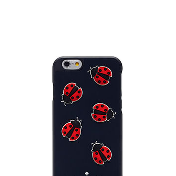Kate Spade Ladybugs Silicone Iphone 6 Case Navy ONE