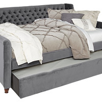 Alena Charcoal 2 Pc Full Daybed w Trundle - Beds Colors