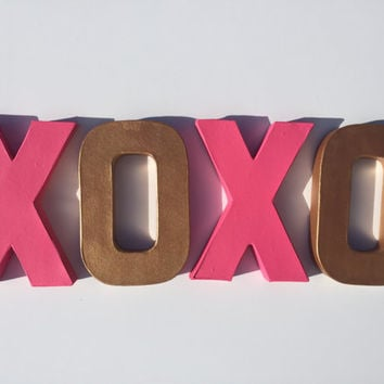 XOXO Valentines Letters (Self Standing) Vday Decor