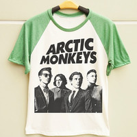 S M L - Arctic Monkeys TShirts Arctic Monkeys Shirts Rock Tee Men TShirts Women TShirts Short Sleeve Shirts Baseball TShirts Baseball Shirts