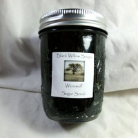 Sugar Scrub, Werewolf scented with Olive Oil, Oatmeal, & Vitamin E, in Mason Jar