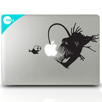Macbook Decal Sticker for your computer, laptop, board, or wall - Angler Fish - Decal 181