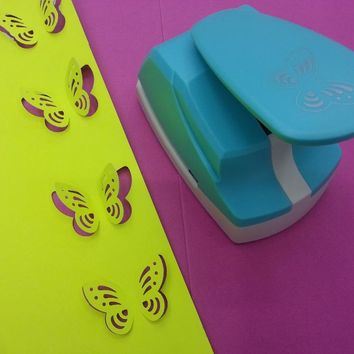 free shipping 2 inch butterfly shape of  DIY hole punches scrapbook puncher paper punchers paper device