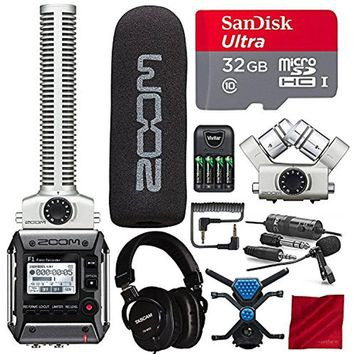 Zoom F1-SP Field Recorder with Shotgun Microphone F1-SP Package and Premium Filmmaking Bundle