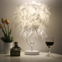 Sexy Feather Table Lamp