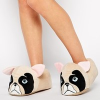 New Look Noco French Bulldog Novelty Slippers