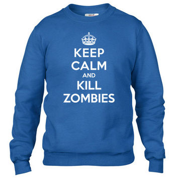 Keep calm and kill zombies1 Crewneck sweatshirt