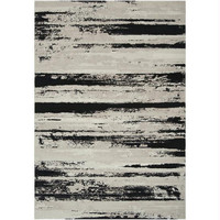 Area Rug - Feather Gray, Coal Black, Oatmeal
