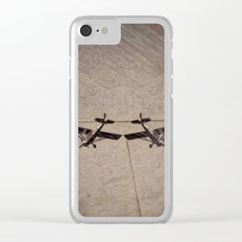 Twin flyers. Clear iPhone Case by Jack28