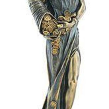 Fortuna Tyche Roman Goddess of Luck Statue 11.25H
