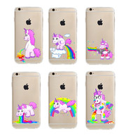 Hot Deal Cute Stylish Iphone 6/6s Cartoons Unicorn Iphone Apple Soft Phone Case [8790240647]