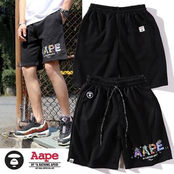 DCCK 1472 aape Candy monogrammed shorts