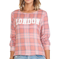 Wildfox Couture London laid Pullover in Peach