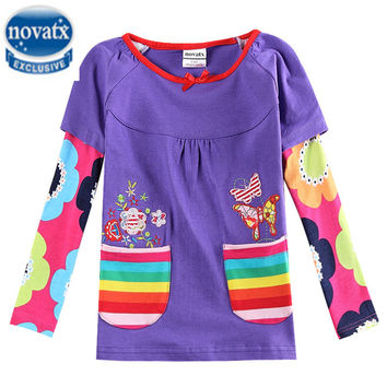 New baby clothes cartoon Anna Elsa t shirts for girls children girl fashion tops long sleeve costume t-shirt baby clothes F5411