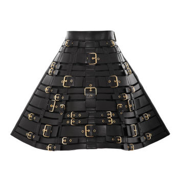 Buckled Leather Harness Skirt by Fausto Puglisi - Moda Operandi