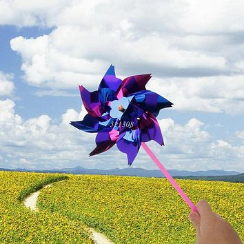 Kids Wind Spinners Plastic Color Windmill Decoration Plaza Outdoor For Creative Kids Toys Sports