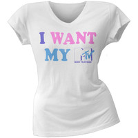 MTV - My MTV Juniors V-Neck T-Shirt