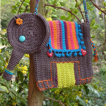 Elephant purse crochet pattern