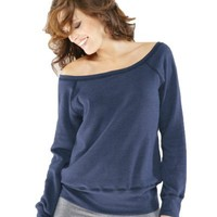 Triblend Sponge Fleece Slouchy Wideneck Sweatshirt