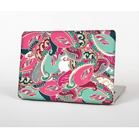 The Colorful Pink & Teal Seamless Paisley Skin Set for the Apple MacBook Air 11""