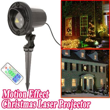 Christmas Lights Laser Projector Outdoor New Year Decoration For Home Red Green Laser Mix Moving Effect Waterproof IP44