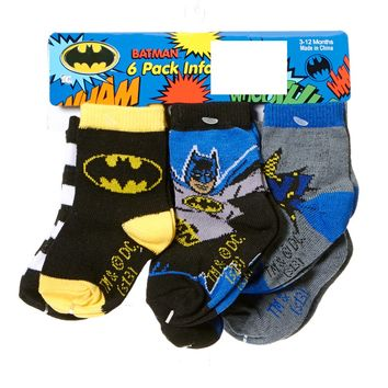 6pk Batman Socks 3 12m 363550377 | Baby Shoes | Baby Boy Clothes | Clothing More | Burlington Coat Factory