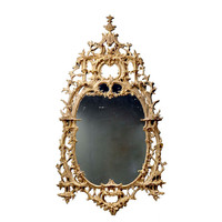 1STDIBS.COM - Clinton Howell Antiques - An exceptional English rococo carved and gilded mirror frame