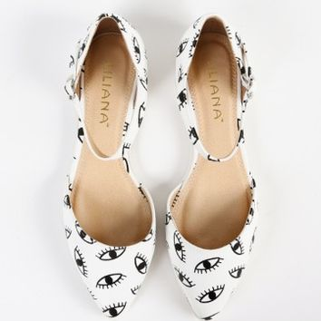 Liliana Julique-1 Pointy Eye Ankle Strap Flats | MakeMeChic.com