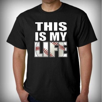 "Baseball Shirt ""This Is My Life"" Men T-shirt"
