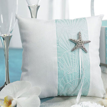 Starfish Beach Theme Ring Bearer Pillow