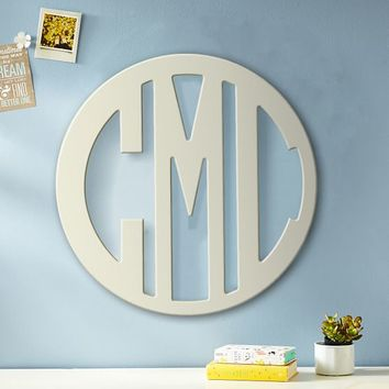 Wooden Cut-Out Block Monogram